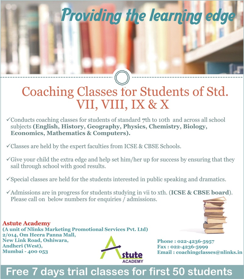 Flyer for Coaching Institute
