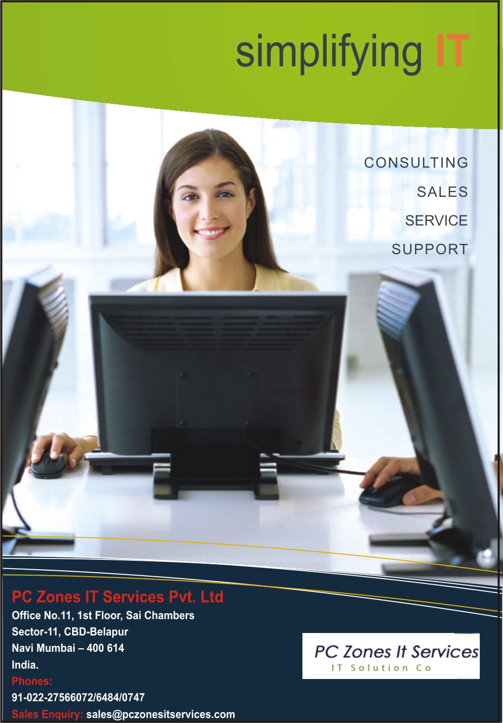 Folder for PC Zones IT Services (Front)